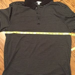 Calvin Klein Shirts - Calvin Klein black striped polo shirt